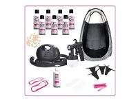 Pro Spray Tanning kit: Machine, Tanning PopUp Tent, Tan Solutions & More