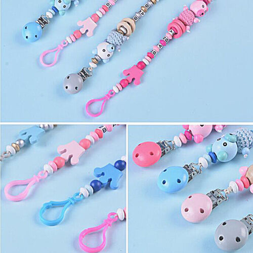 New Pacifier Clips Pacifier Teething Baby Teether Chain Bead Dummy Holders Jian