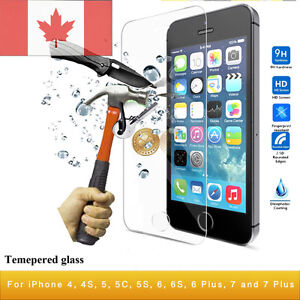 iPhone 4/4S/5/5S/5C/6/6S/6PLUS/7/7PLUS Tempered Glass Protector
