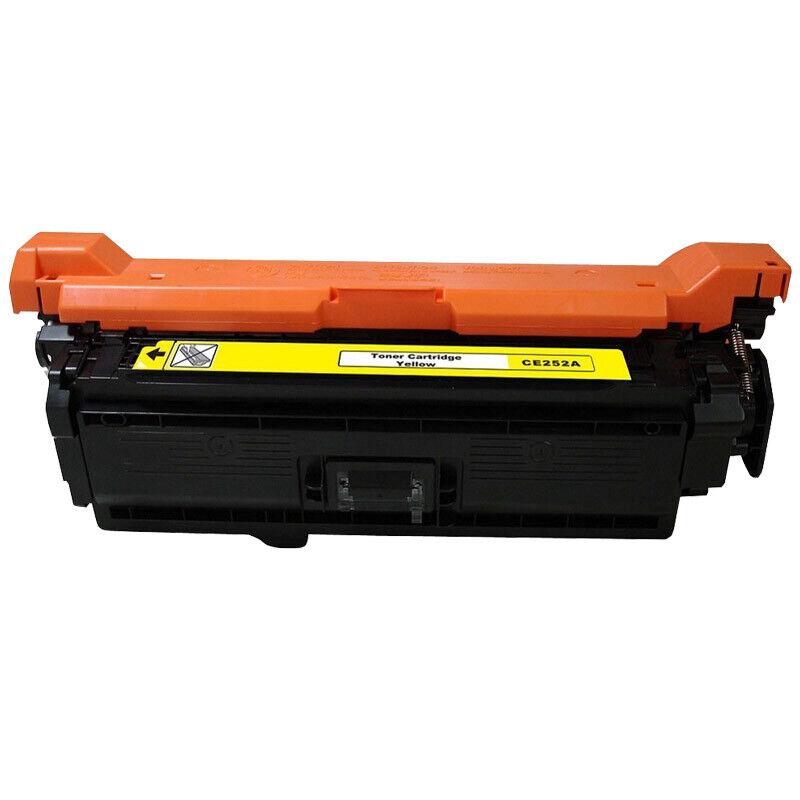 1PK CE252A Yellow Toner Cartridge Compatible For HP LaserJet CM3530 CP3525 504A