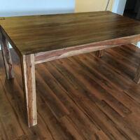 Table salle à manger en bois de Rose