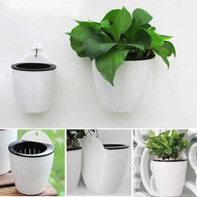 Plant Flower Pot Self-watering Wall Hanging Plastic Planter House Garden New DIY](Diy Flower Pot)