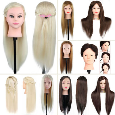 100% Real Human Hair Hairdressing Training Head Cosmetology Mannequin Salon muti (Mannequin Head Human Hair)