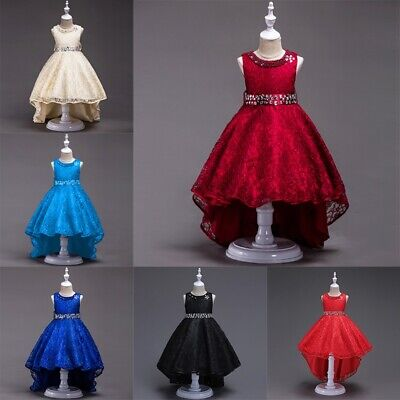 Princess Dresses For Children (Flower Girl Dresses Bridesmaid Wedding Gown Princess Lace Pageant for 3-14Years)