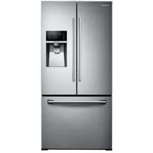 "Samsung RF26J7500SR 33"" French Door Refrigerator Thru Door Ice D"