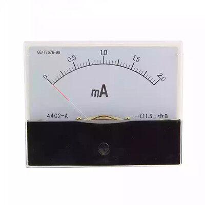 Dc 0-20ma Scale Range Current Panel Meter Amperemeter Gauge 44c2 Ammeter Analog