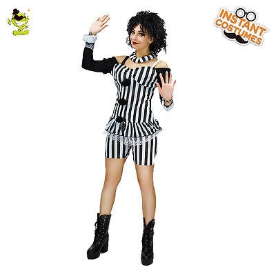 Women Merry Mime Costumes Clown For Halloween Party Costume](Mime Costumes For Halloween)