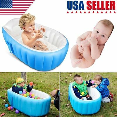Blow Up Kid Portable Spa Warm Bathtub Inflatable Bath Tub Kit For Childen Baby](Blow Up Tub)