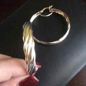 Sterling Silver Hoop Earrings- 2 Available