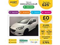 WHITE VAUXHALL CORSAHATCHBACK 1.21.4 PETROL LIMITED EDITION FROM £25 PER WEEK!