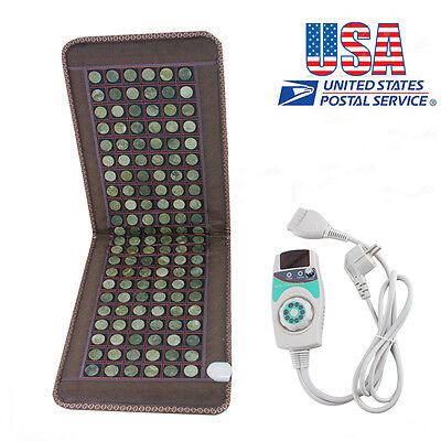 Natural Tourmaline Negative Ions FIR InfraRed Heating Multi Energy Massager Mat