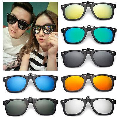 Polarized Lenses Flip-Up Clip On Sunglasses UV400 Driving Outdoor Glasses Cool