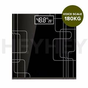 180kg Electric Talking Scale Weight Fitness Glass Bathroom Scale Melbourne CBD Melbourne City Preview