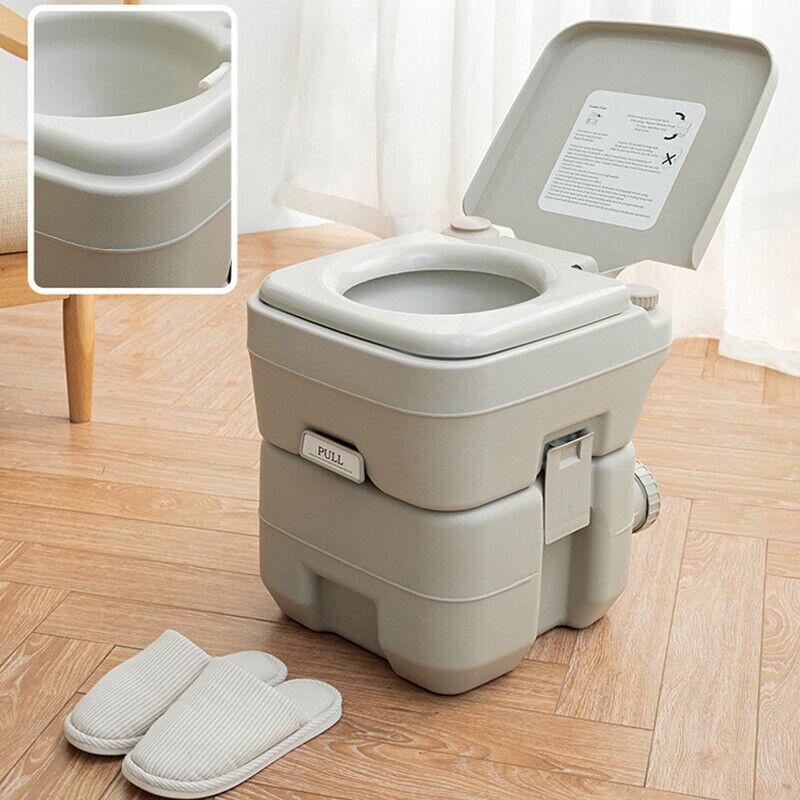20L Portable Toilet 5 Gallon Flush porta-potty Outdoor Indoor Travel Camping