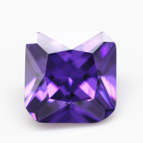 Purple Sapphire 14.25Ct 12x12mm Cushion Faceted Cut Shape AAAAA VVS Loose Gems