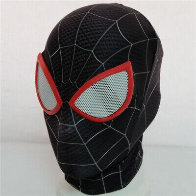 US Spider Man Into the Spider-Verse Miles Morales Mask Superhero Cos Hoods Props - Spiderman Masks