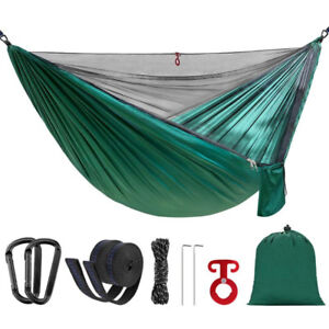 Camping Hammock with Mosquito Bug Net Portable Lightweight Parac
