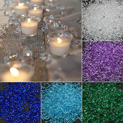 Wedding Party DIY Decor 1000PCS Acrylic Crystal Faux Diamond Beads Table Scatter Diy Wedding Table