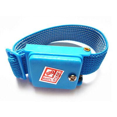 Anti Static Cordless Bracelet ESD Discharge Cable Wrist Strap Cool BlueT2P