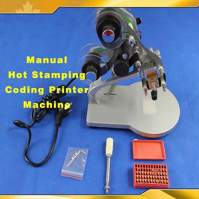Manual Hot Stamping Coding Printer Machine Ribbon Coding Date Batch Character