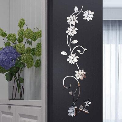 Grande 3d Specchio Fiore Adesivi Murali Artistici Rimovibile