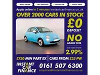 Fiat 500 Colour 1.2 Manual Petrol BAD / GOOD CREDIT CAR FINANCE