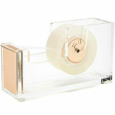Juvale Transparent Tape Dispenser With Gold Accents For Office Home Desktop