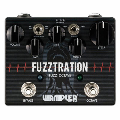 New Wampler Fuzztration Fuzz and Octave Guitar Effects Pedal