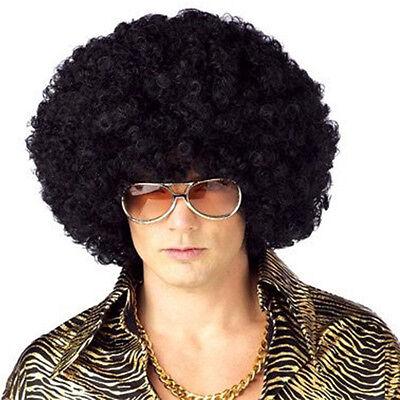 Men's Or Women's 70s Disco Era Black Jumbo Afro Wig One Size With Wig Cap - 70s Black Women