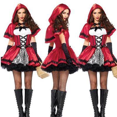 Rotkäppchen Kostüm Erwachsene Frauen Cosplay Halloween Party Kostüm