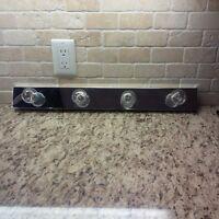 "Retro Style 24"" chrome wall mounted light fixture"