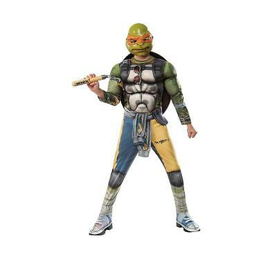 Kostüm NINJA TURTLE deluxe Muskeln GR. S 3-4 Jahre  Overall Karneval Fasching ()