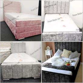💤🔥 BED OUTLET SALE. NEW SARA CRUSHED VELVET BED FRAMES. BUY DIRECT