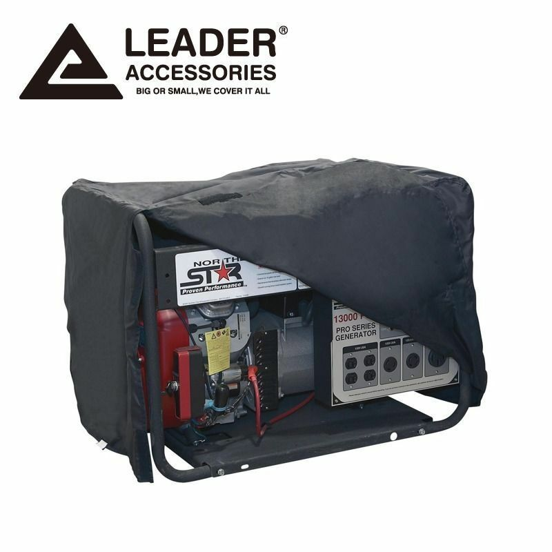 Leader Accessories All Weather Protect Durable Black Generator Cover Large