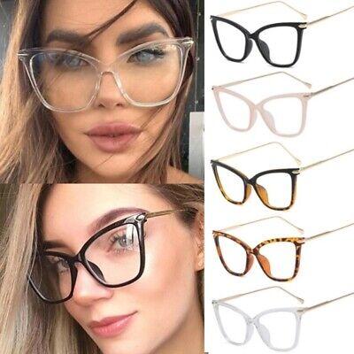 Cat Eye Spectacle Glasses Frame Clear Lens Women Optical Myopia Eyeglasses (Clear Spectacle Frames)