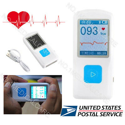 Fda Bluetooth Ecg Monitor Pm10 Portable Rechargable Ecg Checker Usa Stock