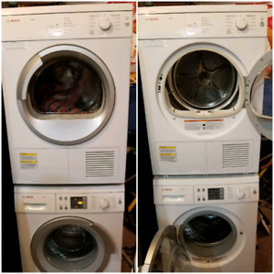 Apartment size Bosch axxis washer and dryer