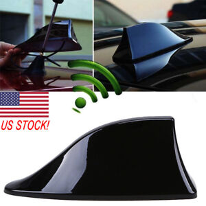 Black Universal Car Roof Radio AM/FM Signal Shark Fin Style Aerial Antenna Cover