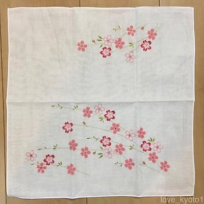 F/S Gauze Cloth Soft Handkerchief Cherry Blossom 35cm cotton made in Japan
