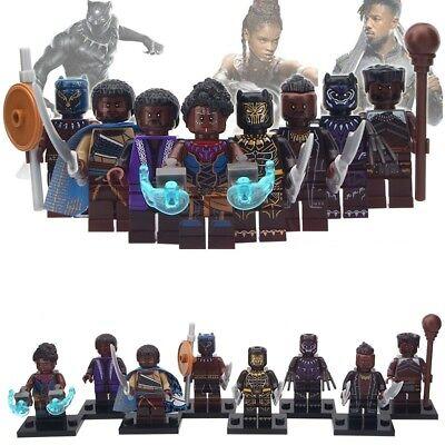 Black Panther Minifigures - Marvel Figure for CUSTOM Lego Ninjago Minifigure (Ninjago Custome)