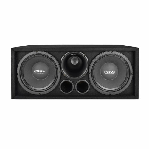"Dual PRV 10"" Chuchero Speakers Box 1600W 2"" Titanium Horn Driver Tikipo System"