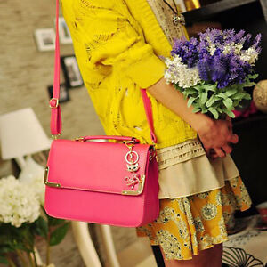 New-Korean-Style-Faux-Leather-Handbag-Women-Bag-Candy-Color-Shoulder-Purses-Lady