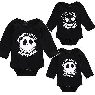 US Halloween Newborn Kids Baby Boy Girl Romper Bodysuit Playsuit Outfit Clothes - Halloween Playsuit