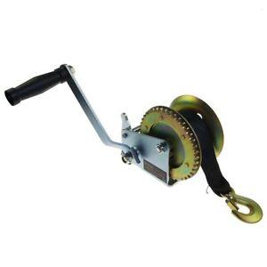 325924 Hand Gear Strap Car Boat Trailer Jet Ski Webbing Wire Winch 630KGS