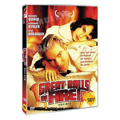 Great Balls Of Fire   1989  Dvd   Jim Mcbride  Alec Baldwin  Winona Ryder   New