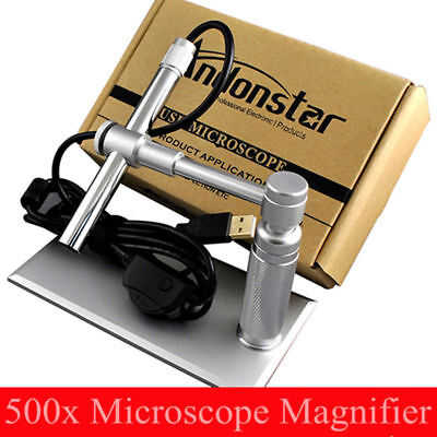 Andonstar 500x 2mp Usb Digital Microscope Video Webcam Magnifier Camera Stand