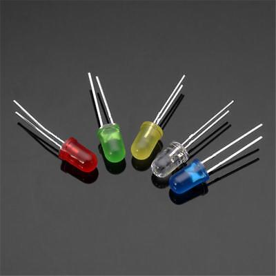 100-500pcs F5 5mm Led Lights Round Super Bright Bulbs 5 Colors Individual Leds