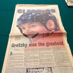 Gretzky newspaper