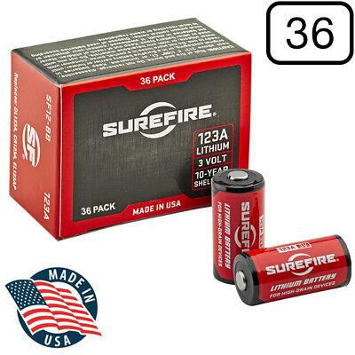 SureFire SF12-BB 123A CR123 3-Volt Lithium Batteries - 36 Pack