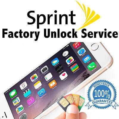 SPRINT PREMIUM FACTORY UNLOCK SERVICE CODE FOR IPHONE 7 PLUS 6S 6 SE 6 5S IMEI'S